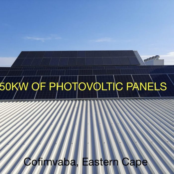 50KW of PV panels CSIR